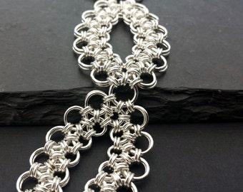Sterling Silver Chainmail Bracelet - Enkou