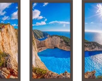 Navagio Beach, Zakynthos Island, Greece - Framed Plexiglass Wall Art