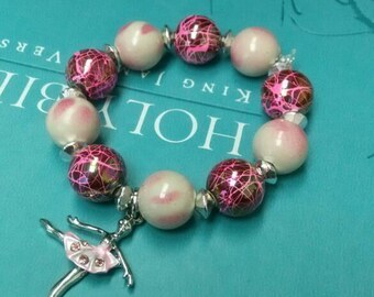 Custom bracelet can be made with any theme for your little princess