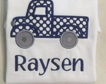Baby Boy Truck Shirt or Onesie // Toddler Boy Shrit // Outfit for Pictures // Boy Birthday Shirt // Truck Birthday Shirt