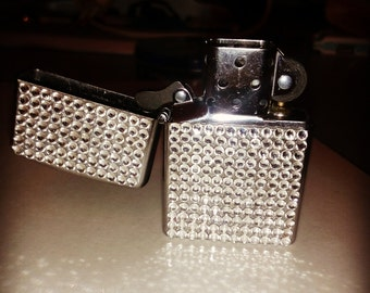 New Zippo Lighter inlaid with Swarovski crystals.
