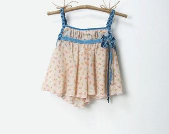 BABY FEERIE DRESS, flower dress, denim dress