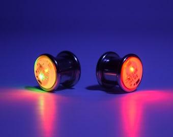 """LED Light up Ear Gauge Plug (Size: 8mm - 5/16"""" - 0g)"""