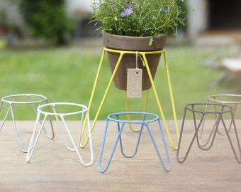 Plant stand etsy - Steel pot plant stands ...