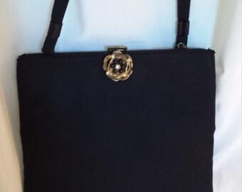 1950's vintage black evening bag