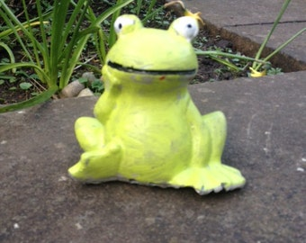 Cement Green Frog