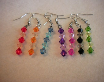 Summer Earrings, Long Drop Earrings, Summer Fun Drop Earrings, Kids Gift, Girls Gift