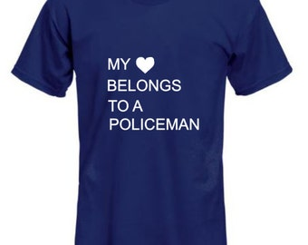 My Heart Belongs to a Policeman shirt