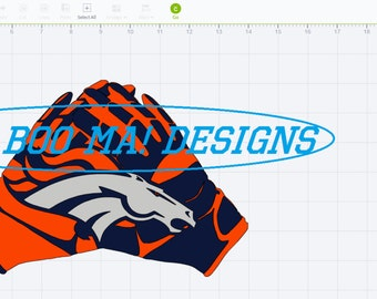 Bronco Gloves SVG design