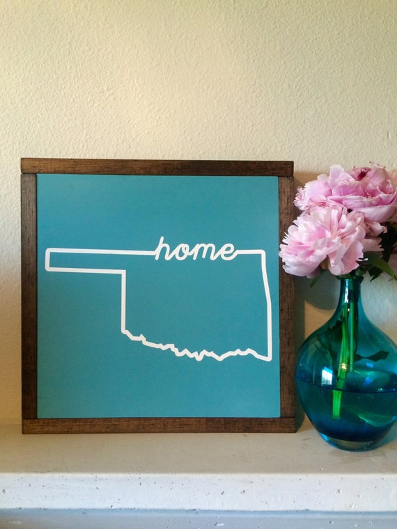 Oklahoma sign home state sign wooden sign oklahoma decor for Tattoo shops okc