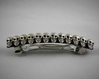 Skull French Barrette