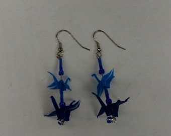 Two cranes earrings