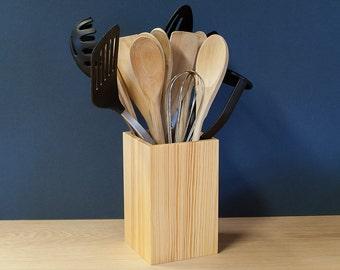 Pine Utensil Pot - Utensil Holder - Utensil Jar - Sold Singly Or In Sets