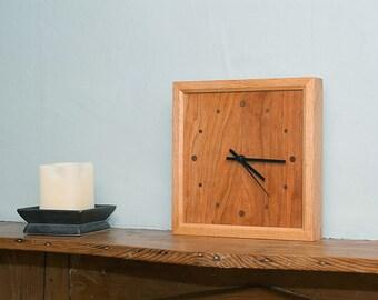 Cherry & Red Oak Wall Clock
