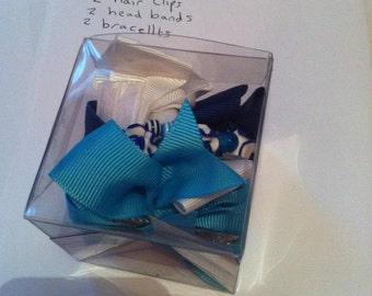 blue, girl, birthday gift set