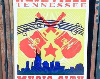 Nashville Music City USA Poster
