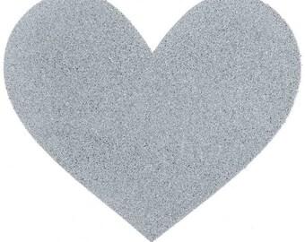 silver heart baby onesie / creeper