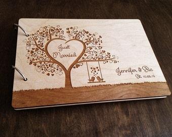 Wedding Guest Book, Heart Tree Wedding Guestbook, Bridal Shower Gift Guestbook Wedding, Guest Book Alternative, Personalized Wedding Gift