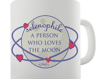 Selenophile Definition Ceramic Mug