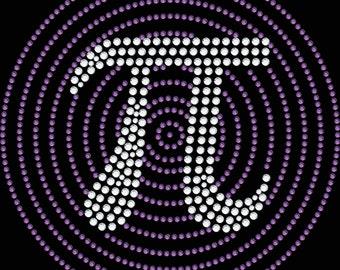 Pi Symbol Rhinestone Applique