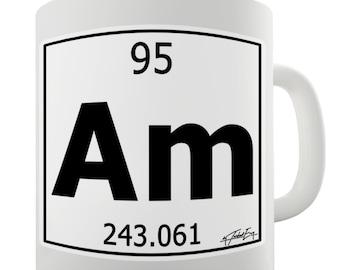 Periodic Table Of Elements Am Americium Ceramic Tea Mug