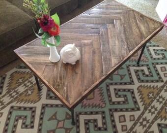 Herringbone Coffe Table
