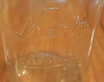 "Vintage Kerr ""Self-Sealing"" Half-Pint Mason Jar"