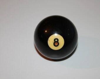 ON SALE! -20% OFF!!! Billiard Ball #8,Black color, Vintage Billiard Ball,Vintage Game, Pool ball, White number 8 , Old Vintage Billiard Ball
