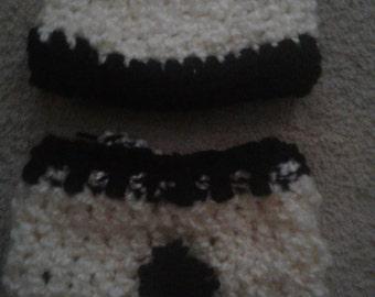 Crocheted  panda set