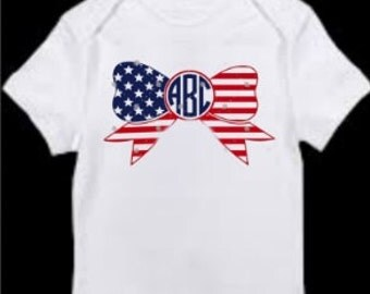 Girl's 4th of July tshirt or onesie