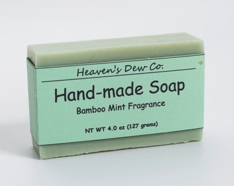 Handmade Bamboo Mint Soap