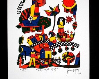 Vida en El Campo Serigrafia / Silk Screen