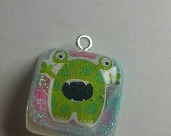 Cute Kawaii Alien/Monster Bracelet/ Necklace Charm