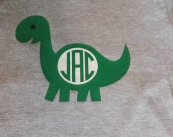 Monogrammed dinosaur shirt
