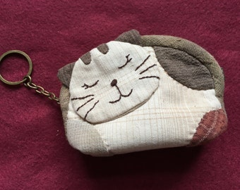 Kitten Coin Purse Keychain