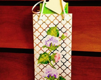 Hand-Painted wine bag
