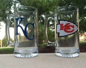 Kansas City Beer Mug Set, Royals/Chiefs
