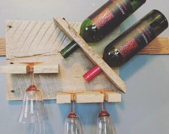 Barnwood Wine Rack/Wine/Glasses/Wall Hanging/Decor