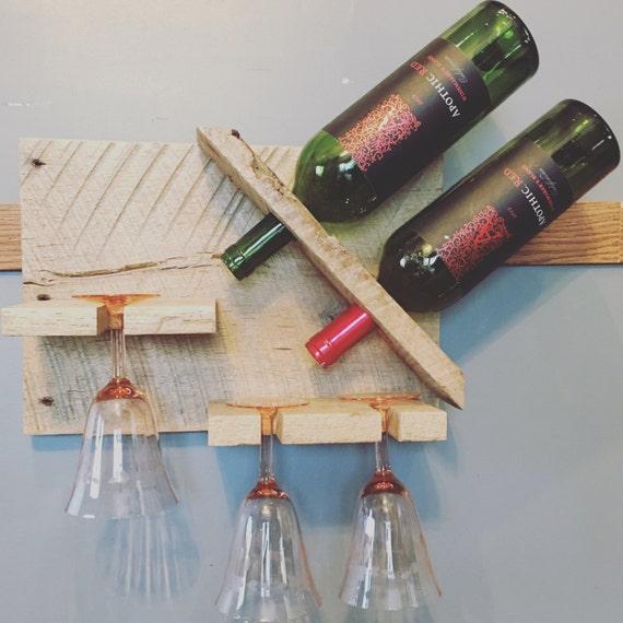 Decorative Wall Wine Glass Rack : Barnwood wine rack glasses wall hanging decor