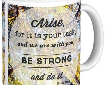 Christian mug Ezra 10:4