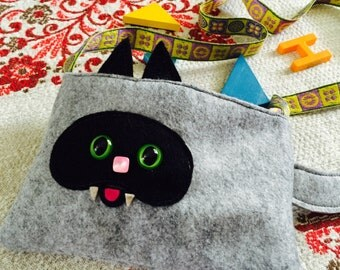 Smashed Siamese Kitty Toddler Purse