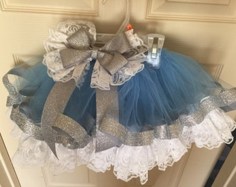 Lace and ribbon trimmed tutu