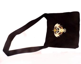 Steam Punk Caduceus Black Messenger Bag