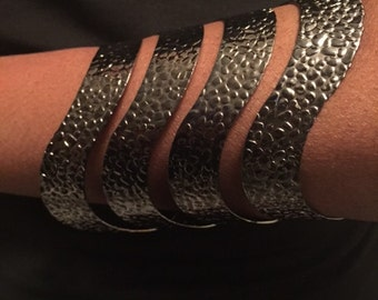 Hammered Wave Cuff