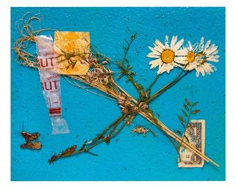 "Collage on Blue 8x10"" print"