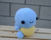 Squirtle, Crochet Squirtle Pokemon, Pokemon, Pokemon Squirtle, Crochet Pokemon,  Handmade, Present, Gift, MADE TO ORDER with Free Shipping