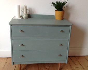 SOLD Vintage chest of drawers - duck egg blue