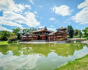 Buddhist Temple Art, Extra Large Canvas, Kyoto Photo Print, Kyoto Landscape Art, Japan Landmark, Glossy, Home Wall Decor