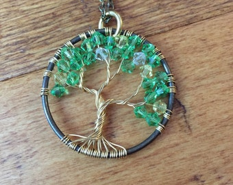 Tree of Life Necklace_Green