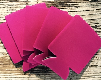 25 Blank Raspberry Beverage Insulators   Can Coolies   FREE SHIPPING